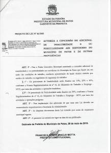 Projeto de Lei 16-2015